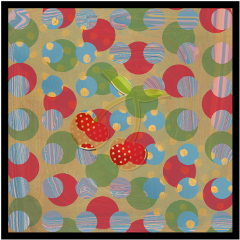 freetoedit dots red green strawberry