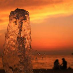 beach colorful picsart photography sunset