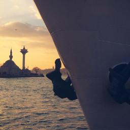 istanbul sunset mosque ferry interesting freetoedit