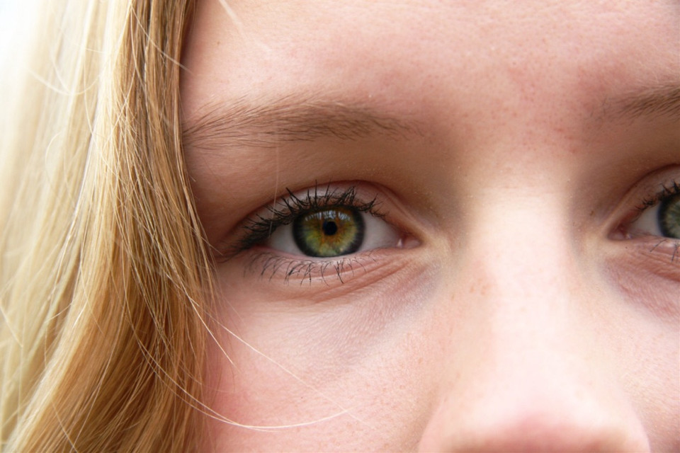 #eyes #eye #interesting #art #green #yellow #orange #tumlbr #photography #macro #micro #hair #blonde