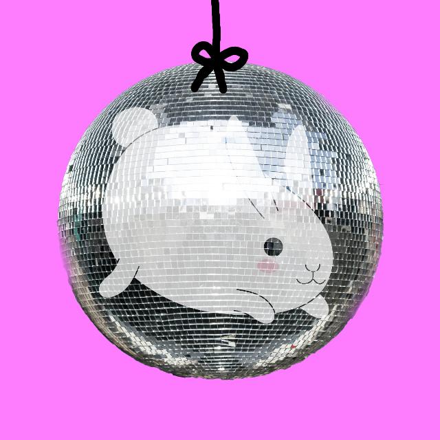 #FreeToEdit  #bunny #rabbit #2017 #happynewyear #disco