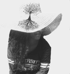 freetoedit mybestie hat treeoflife blackandwhite