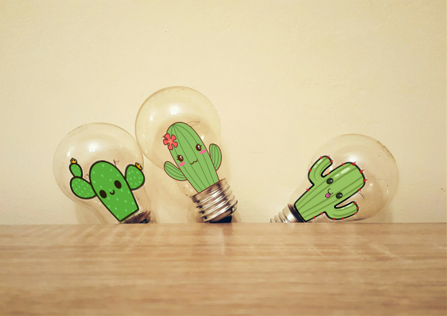 #FreeToEdit  #cactus  #lightbulbs  @pa Thanks for featuring my edit in Smash Hits and Rad Remixes