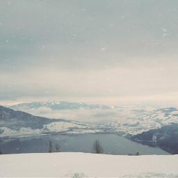 nature lake swiss snow freetoedit