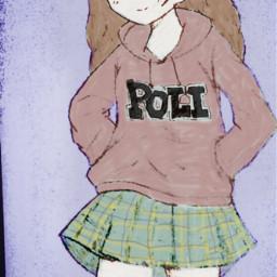 drawing garabato animeschoolgirl animeschool dibujo