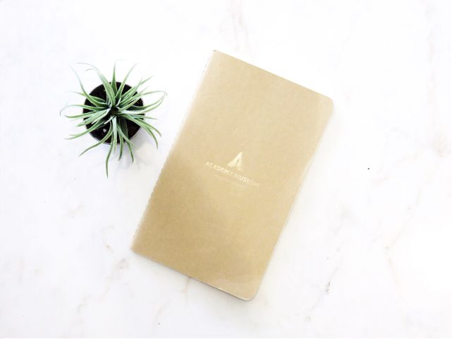plant succulent notebook marble academy