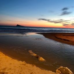 benidorm sunset freetoedit