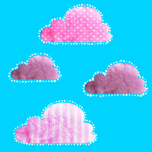 #FreeToEdit  #cottoncandy #clouds #dottedoutline  Remixed from @kai_koikoi