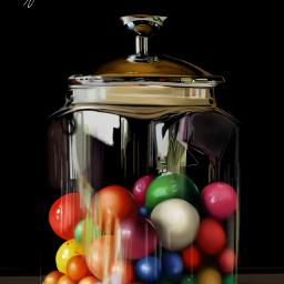 colorful candys jar drawing sketch digitalart