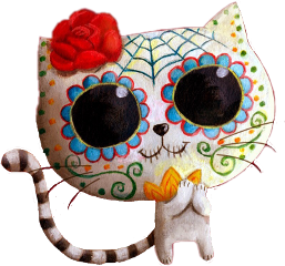 kitty sugarskull dayofthedead freetoedit