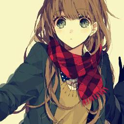 anime selfie sepia old cute